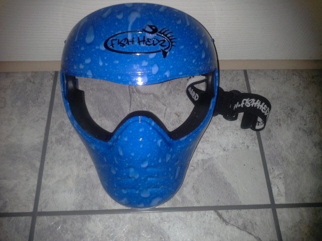 Save Phace Jet Ski Face Mask (Blue Droplets)